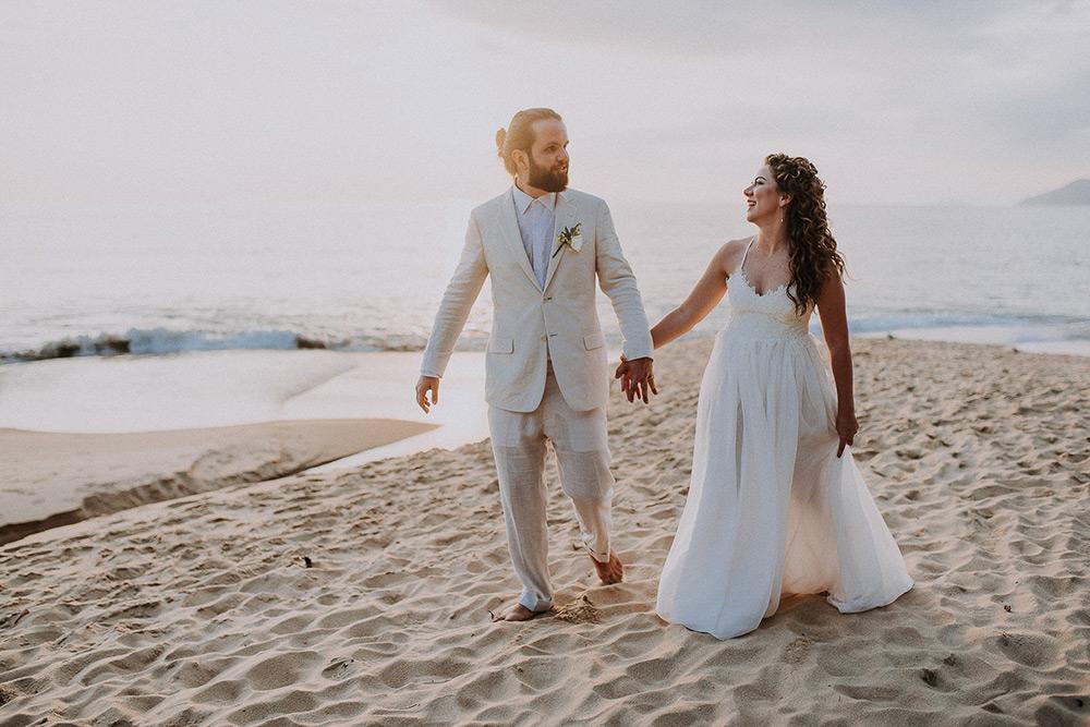 Casamento Descontraído no Litoral Norte | Casamento pé na areia