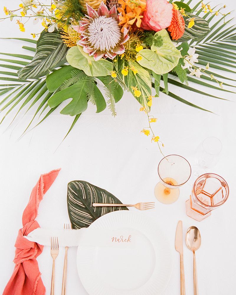 Inspiração | Casamento com decoração tropical