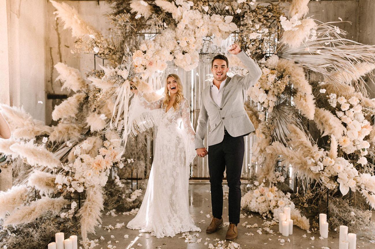 capim dos pampas na decoracao do casamento
