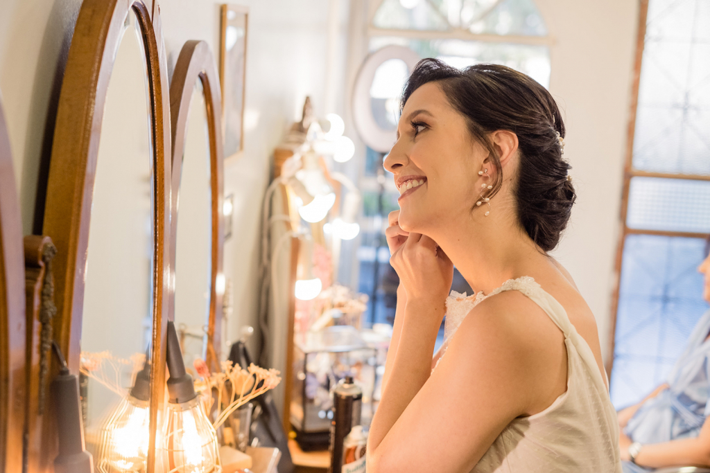 Virna e Gabriel Casamento em Brasilia Vestido de noiva à distância Helen Salles