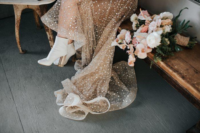 Vestidos de noiva com brilho Noiva Ansiosa