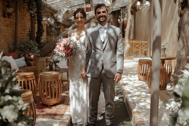 Érika e Bruno   Um lindo mini wedding no Espaço Quintal